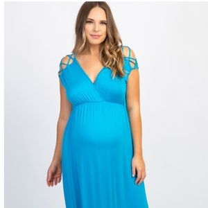 Pinkblush Dresses - Pinkblush Woven Shoulder Maxi Dress- Small
